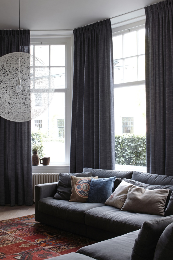 Curtain Idea 36 - Attach the tracks in the corner to create beautiful corners in your window treatment
