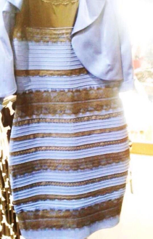 Gold and white or black and blue dress meaning