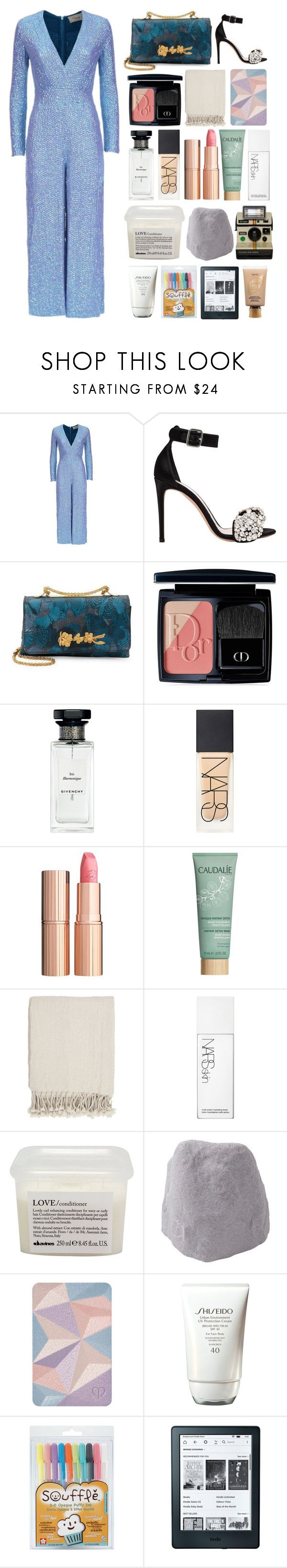 """""""6.318"""" by katrinattack ❤ liked on Polyvore featuring Temperley London, Alexander McQueen, Valentino, Christian Dior, Givenchy, NARS Cosmetics, Charlotte Tilbury, Caudalíe, Surya and Davines"""