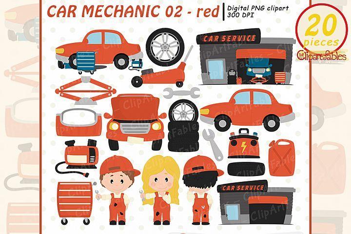 Red Cute Auto Shop Automobile Vehiche Car Mechanic 405120 Illustrations Design Bundles In 2021 Digital Embroidery Patterns Car Shop Car Mechanic