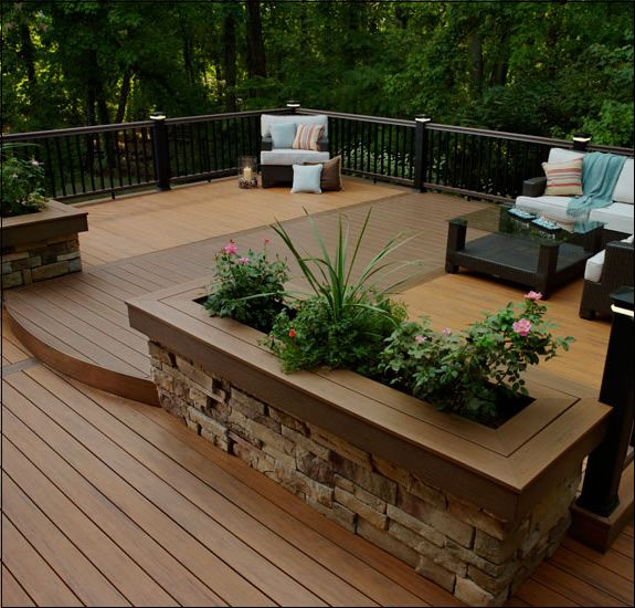 TimberTech® Tropical® Deck Boards Deck Colors Pacific Walnut (darker) and Pa