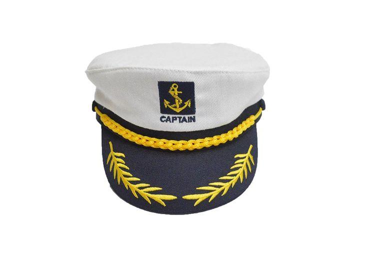 Kobwa(TM) Adult Yacht Boat Embroidery Sailor Marine Captain Costume Hat with Kobwa's Keyring