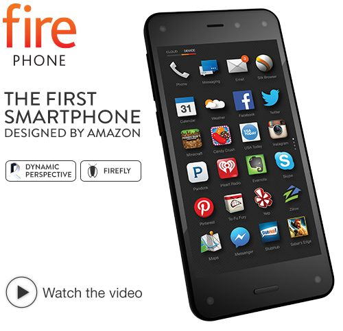 Amazon Fire Phone, 32GB (AT&T) The only smartphone with Dynamic Perspective, Firefly, Mayday, and more $199.00 – $649.00 Price varies with s...