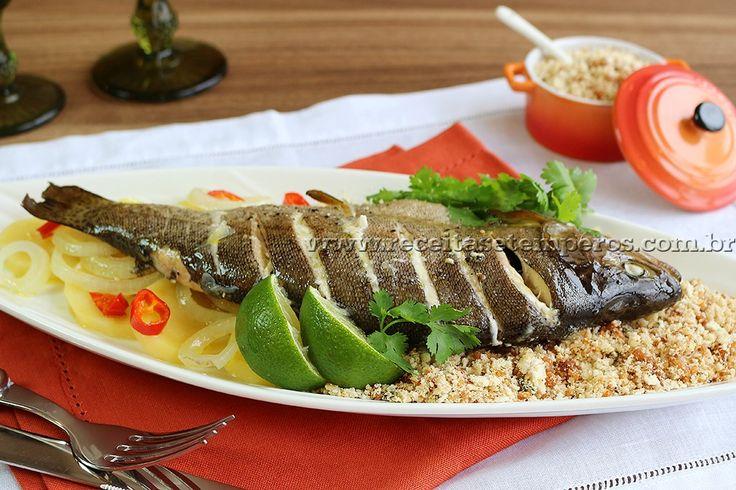 Receita de Peixe Assado - Truta passo-a-passo. Acesse e confira todos os ingredientes e como preparar essa deliciosa receita!