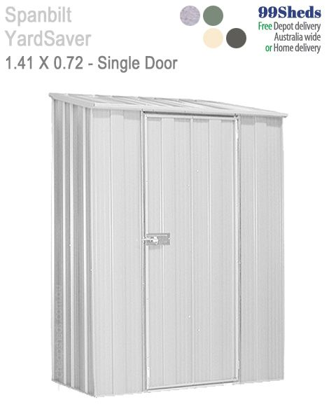 Only have a narrow space for your shed? then you may want to checkout the YardSaver Slimline S42, measuring 1.41m x 0.72m with a Single Door. GardenShed.com