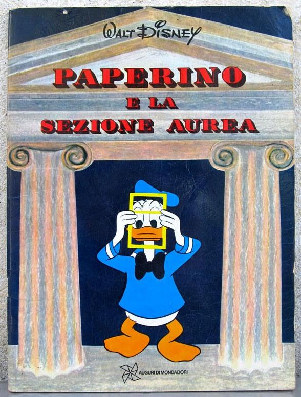 Paperino e la sezione aurea - Auguri di Mondadori - 1973