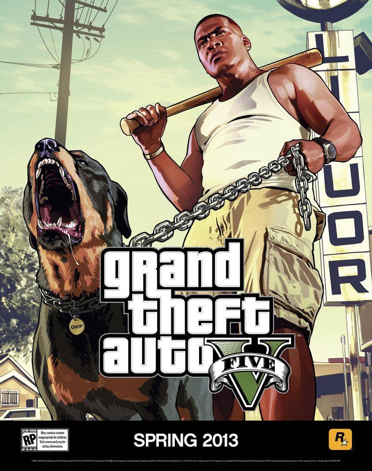 Grand Theft Auto 5 - Dog poster