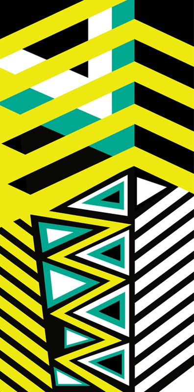 Stripes & Triangles by Margaret Perez (Geometric Illustrations, Print & Pattern) See more at www.margaretperez.com #margaretperez #illustrations #printpattern #graphic #geometric #stripes #triangles #fashion