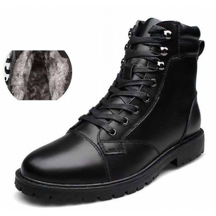 Mens Fashion Genuine Leather Martin Boots Army Boots Mens Military Desert Boot Snow Warm Shoes Men Autumn Motorcycle Ankle Boots