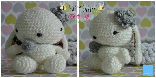 Króliczek bunny handmade crochet