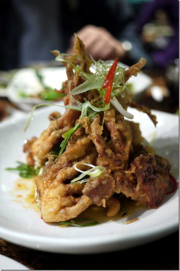 Pu nim yum mamuang or Soft shell crab salad