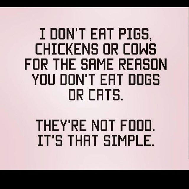 Its very simple! #vegan #alllifematters