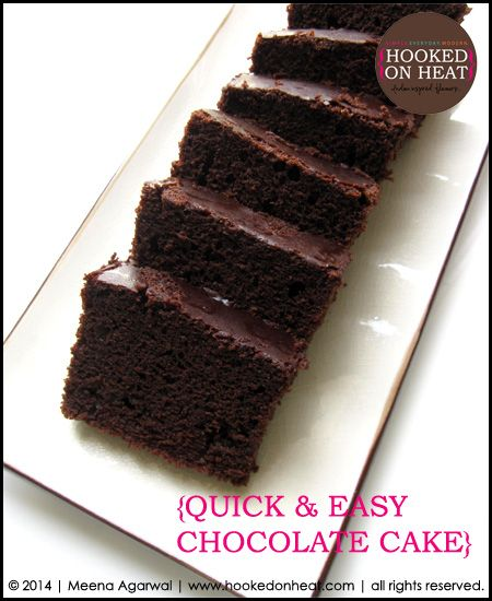 Need a go-to recipe for a quick, decadent treat? Try this Quick Chocolate Cake to please your family/friends, or even better, just make it for yourself! Recipe here: http://www.hookedonheat.com/2014/07/08/simple-indulgences-quickchocolatecake/  For more simple, healthy and mouth-watering recipes the whole family will love, head on over to www.hookedonheat.com