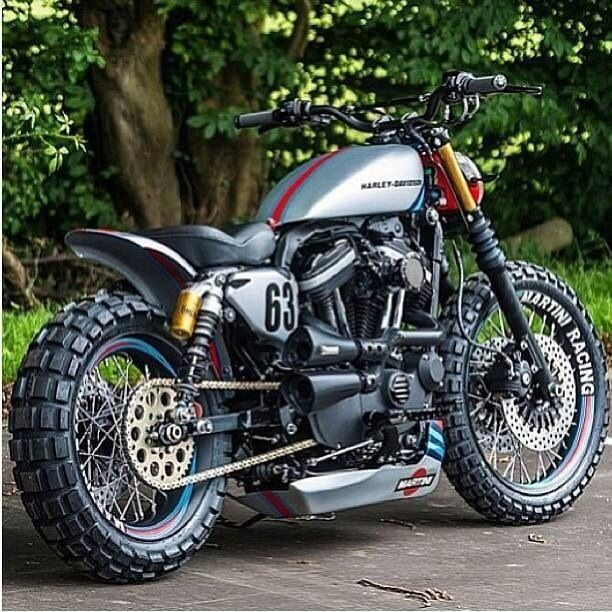 Harley cafe racer knobblies