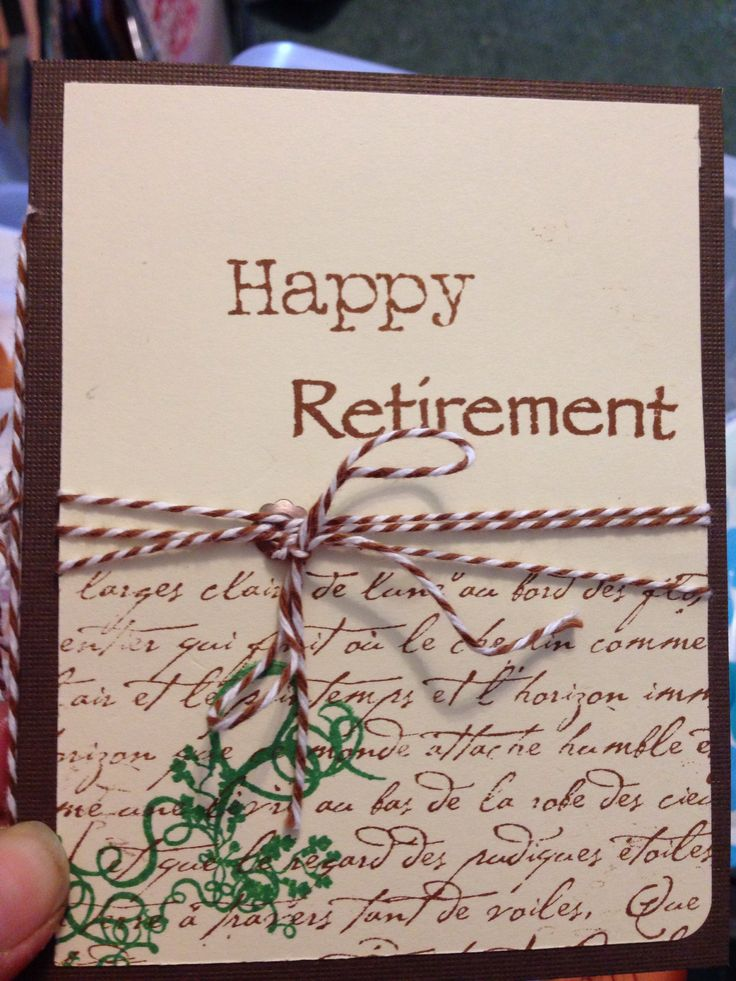 Marvelous Ideas For Retirement Cards To Make Part - 4: Retirement Card
