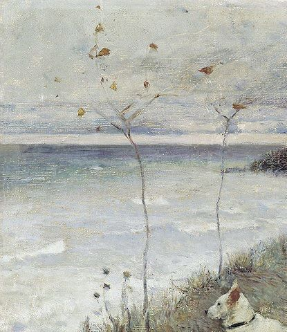 pyotr nilus  I893  autumn (detail)  empire russian painter writer (impressionnist) born I869 podolia, ukraine - died I943 paris)  emigrated to france as the soviet union was formed