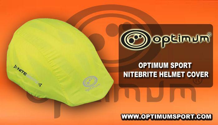 One Size Fluro Green Optimum Nitebrite Cycling Helmet Cover
