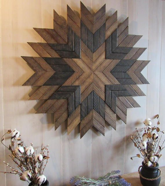 Wood Wall Decor Reclaimed Wood Wall Art Barn Quilt Farmhouse