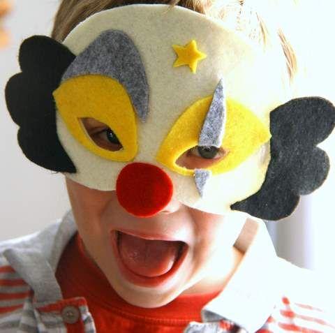 DIY clown mask #circus #party
