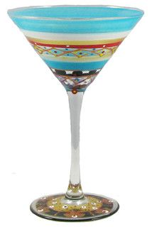Mosaic Carnival Martini Glass - contemporary - cups and glassware - by Golden Hill Studio