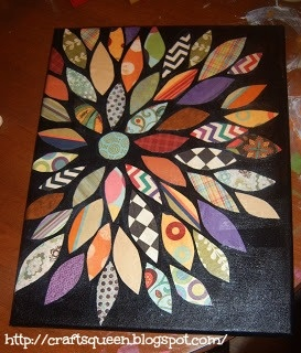 The Queen of Crafts: The Collage Flower