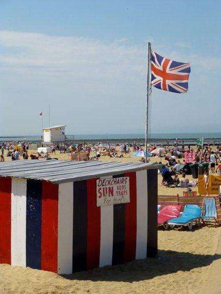 English summer holiday. Margate beach 2012.