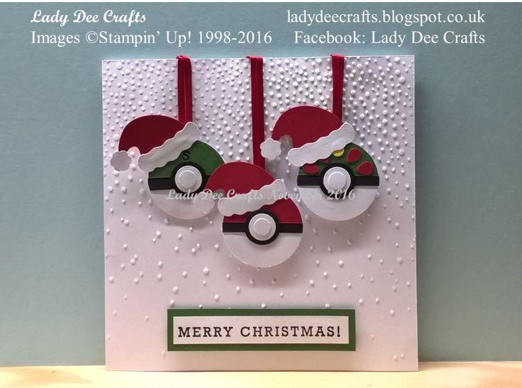 Christmas Pokemon Pokeballs card