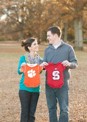Loooove this idea! Georgia/Carolina! :) a house divided football