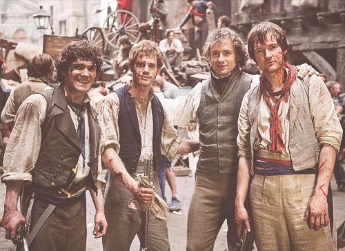 Les Mis (2012) | Hugh Jackman (Valjean) and others in the cast of the big screen adaptation of Les Misérables.