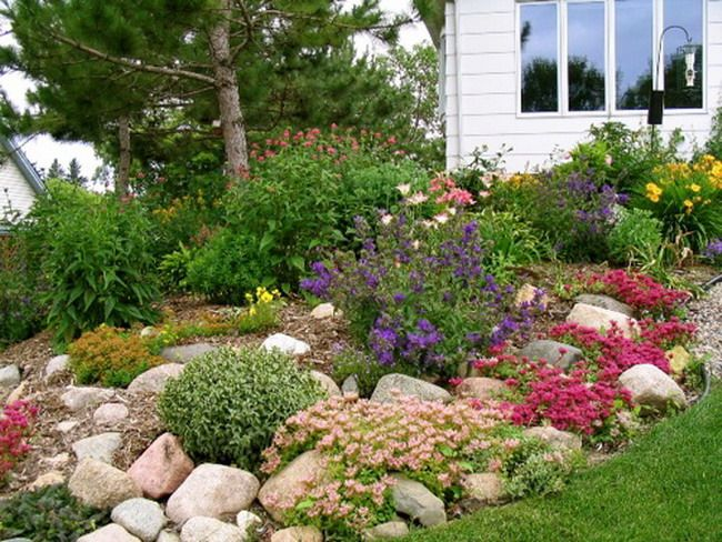 Rock garden beautiful gardens pinterest for Stone landscaping ideas