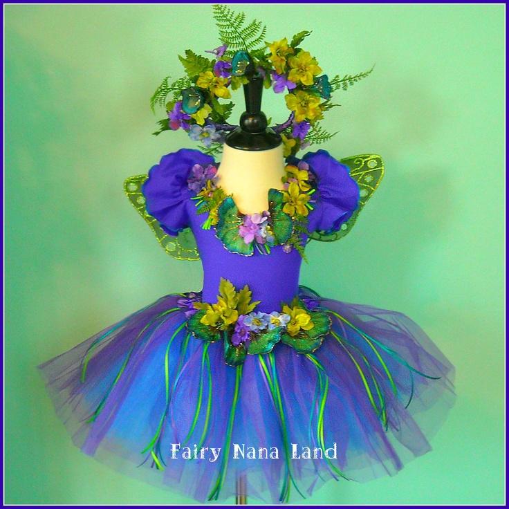 Pre HALLOWEEN SALE - Fairy Costume - Flower Girl The Celebration Faerie - - made to order children's sizes 2 - 10