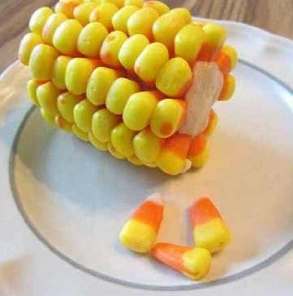 Halloween creativity...candy corn and cookie dough!