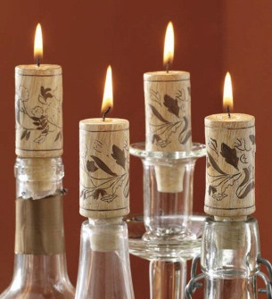 Wine cork candles!  $9.95 for a set of 4 at www.shop-fancytha...