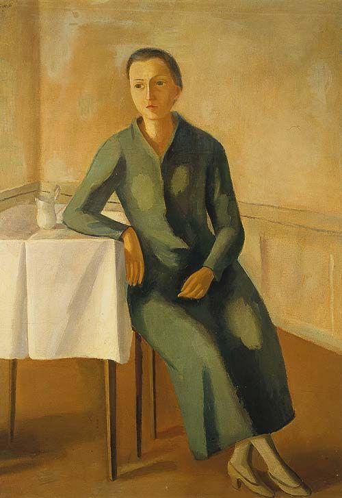 """Virgilio Guidi """"Donna solitaria"""", 1938 #MuseoNovecento #Arte #Art #modernart"""
