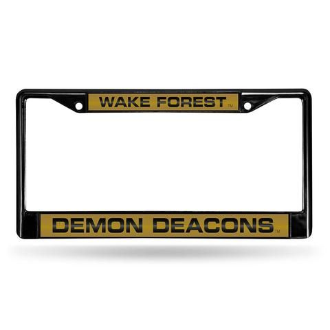 Wake Forest Demon Deacons Laser Cut Black License Plate Frame #WakeForestDemonDeacons