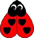 Lieveheerstbeestje met hartjes - knutselen Valentijnsdag