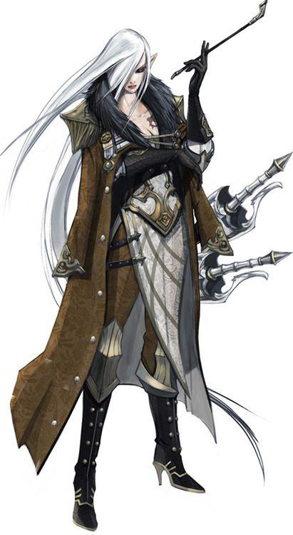 Swordswoman character design