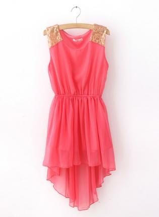 Pink Cocktail Dress: Fashion, Summer Dress, Style, Clothes, Dream Closet, Outfit, Chiffon Dresses, High Low, Pink Dress