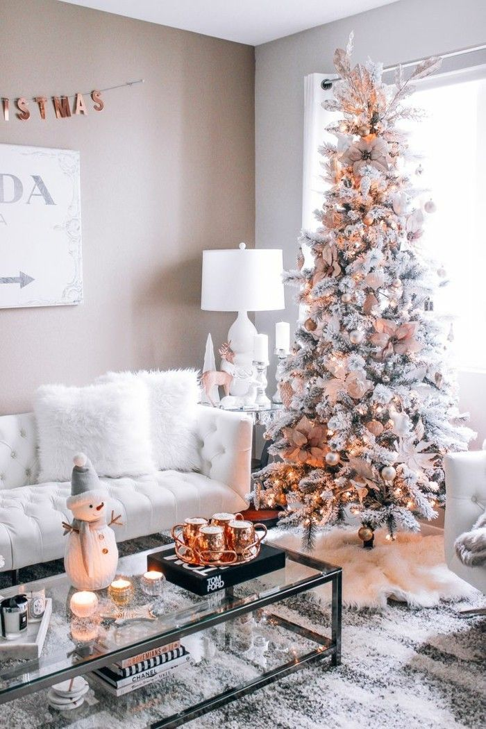 weihnachtsbaum rose gold dekoration elemente #Design #Weihnachten