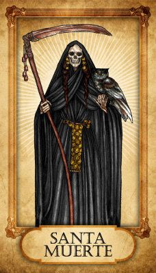 Santa Muerte Prayer Card by TheVodouStore on Etsy, $2.50