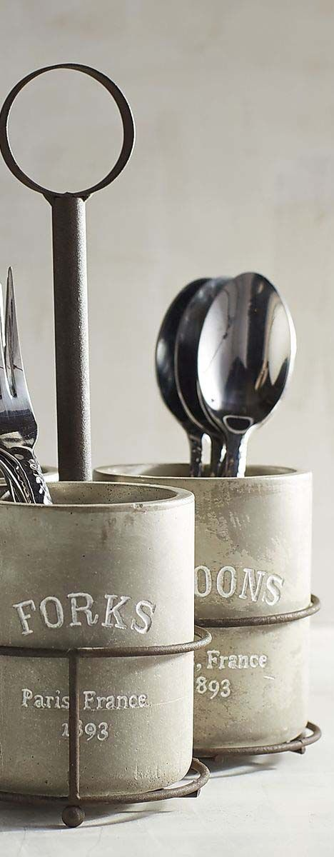 Concrete Utensil Caddy