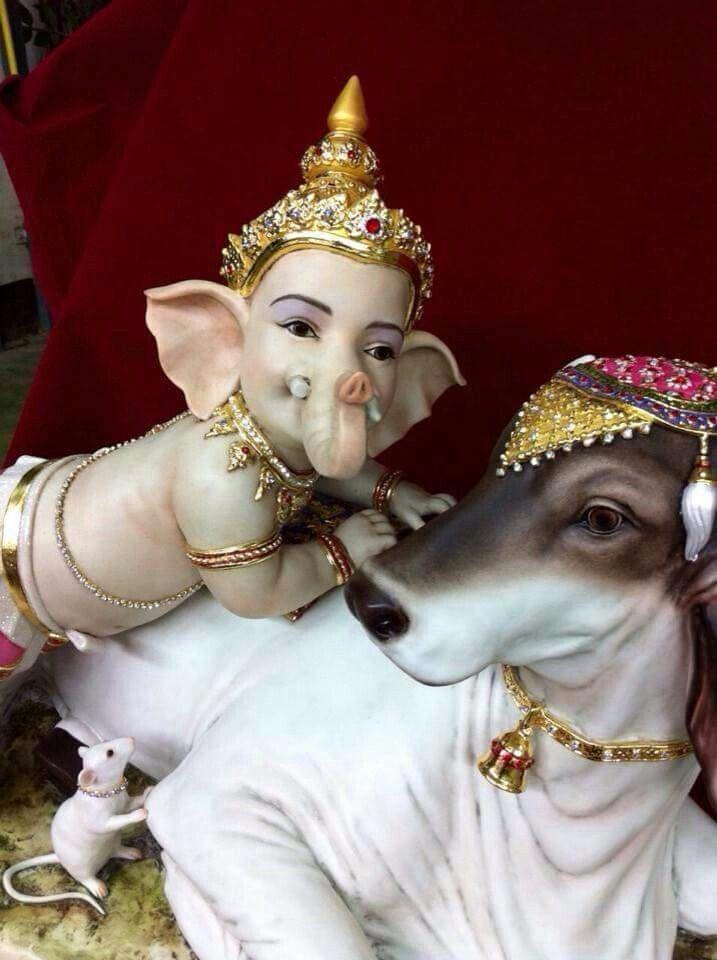 Ganesh, Nandi and rat
