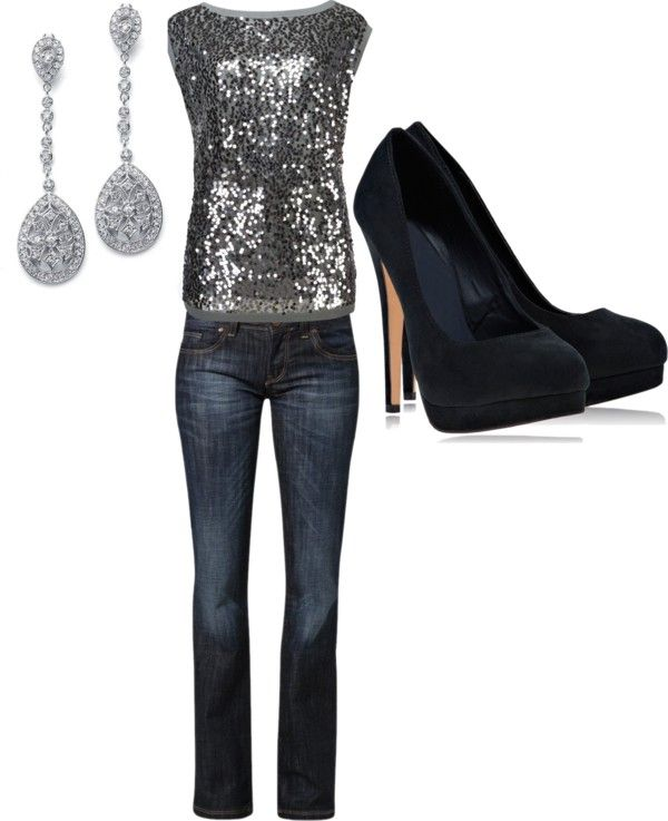 """""""New Year's Eve-Casual"""" by chelsey-sendelbach on Polyvore"""