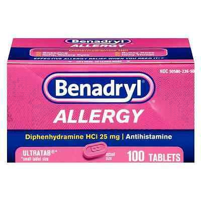 Other OTC Medicine: Benadryl Allergy Ultratab Tablets 10 Ea (Pack Of 9) BUY IT NOW ONLY: $112.29