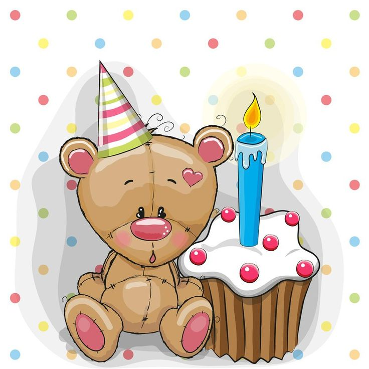 Открытки с днем рождения мишка с тортом, пожеланиями свадьбой