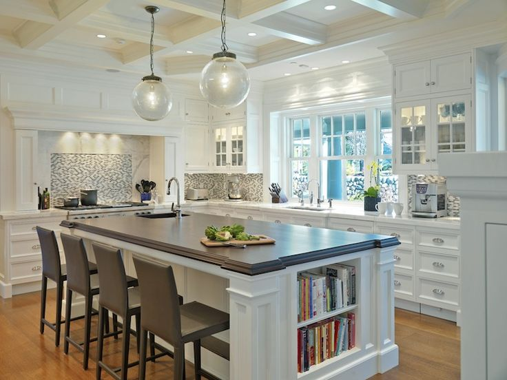 Kitchen coffered ceiling: Traditional Kitchens, Jan Gleysteen, Kitchen Design, Kitchen Ideas, House Idea, Gleysteen Architects, White Kitchens