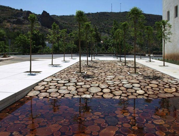 Pin de sable et mer en eau arquitectura de paisaje - Eau arquitectura ...