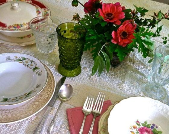 Another Lovely Table Setting With Vintage China From Our Elegant Collection    Southern Vintage Table