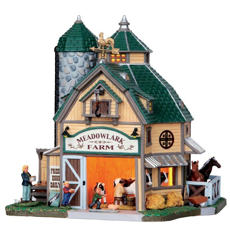 Lemax Village Collection Christmas Village Building, Meadowlark Farm - Seasonal - Christmas - Villages & Collectibles