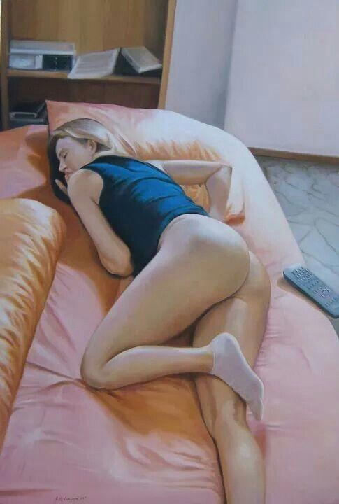 Sonno del pomeriggio - olio su tela - 2010